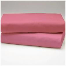 """Drobės paklodė su guma """"Antikinė rožinė"""""""