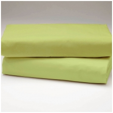 """Drobės paklodė su guma """"Gaivi žalia"""""""