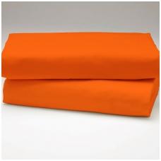 """Drobės paklodė su guma """"Orandžinė"""""""