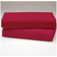 """Drobės paklodė su guma """"Raudona"""""""