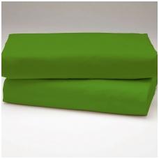 """Drobės paklodė su guma """"Tamsiai žalia"""""""