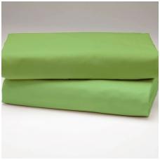 """Drobės paklodė su guma """"Žalia"""""""