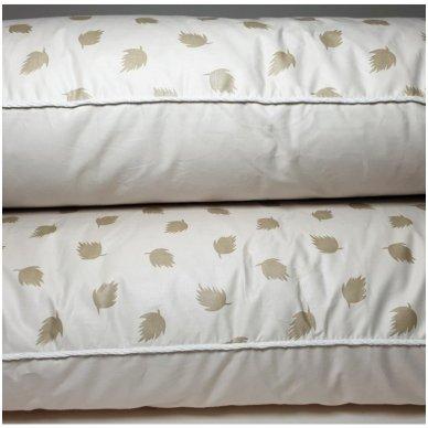 Ančių pūkų ir plunksnų pagalvė (90%-pūkų, 10%-plunksnų), 68x68 cm 3