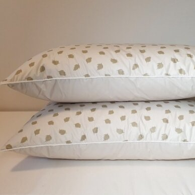 Ančių pūkų ir plunksnų pagalvė (90%-pūkų, 10%-plunksnų), 68x68 cm 5