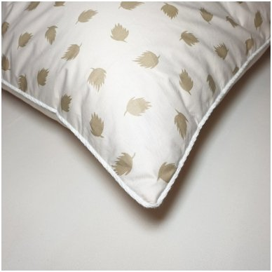 Ančių pūkų ir plunksnų pagalvė (90%-pūkų, 10%-plunksnų), 68x68 cm 4