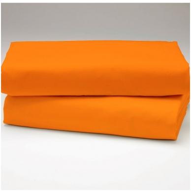 """Drobės paklodė su guma """"Apelsininė"""""""