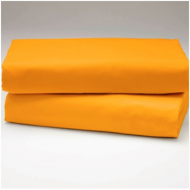 """Drobės paklodė su guma """"Geltona"""""""