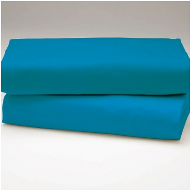 """Drobės paklodė su guma """"Mėlyna"""""""