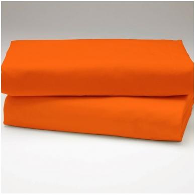 """Drobės paklodė su guma """"Oranžinė"""""""