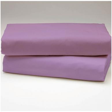 """Drobės paklodė su guma """"Violetinė"""""""