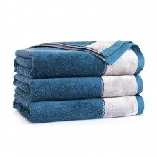 "Antibakterinis Egipto medvilnės vonios rankšluostis ""Megana"" (tamsiai mėlynas)"