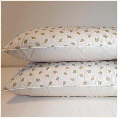 Ančių pūkų ir plunksnų pagalvė (90%-pūkų, 10%-plunksnų), 50x70 cm 5