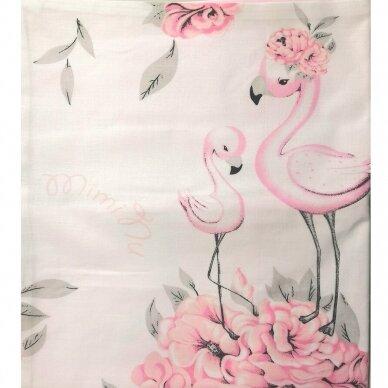 """Antialerginės patalynės komplektas """"Flamingai"""", 140x200cm (rožinė) 3"""