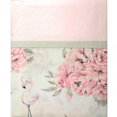 """Antialerginės patalynės komplektas """"Flamingai"""", 140x200cm (rožinė) 4"""