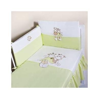"""Antialerginis patalynės komplektas """"Meilučiai"""", 100x135 cm (žalia/citrininė)"""