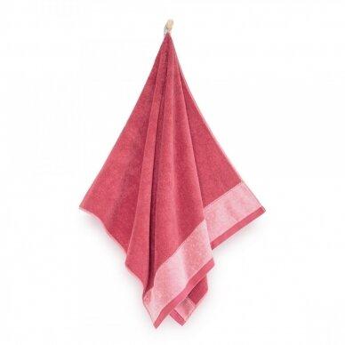 """Antibakterinis Egipto medvilnės vonios rankšluostis """"Megana"""" (avietinis) 2"""