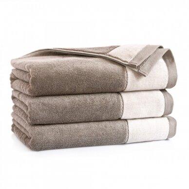 "Antibakterinis Egipto medvilnės vonios rankšluostis ""Megana"" (rudas)"