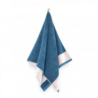 "Antibakterinis Egipto medvilnės vonios rankšluostis ""Megana"" (tamsiai mėlynas) 2"