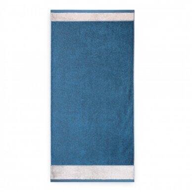 "Antibakterinis Egipto medvilnės vonios rankšluostis ""Megana"" (tamsiai mėlynas) 3"