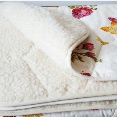 """Avių vilnos antklodė """"VERONA"""" (dvipusė), 100x140 cm 3"""