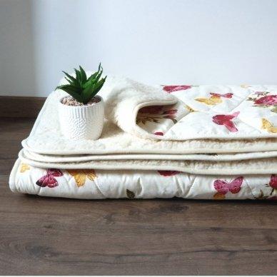 """Avių vilnos antklodė """"VERONA"""" (dvipusė), 100x140 cm"""