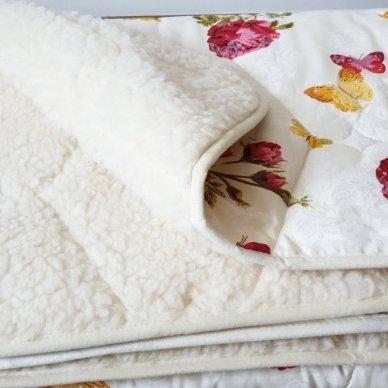 """Avių vilnos antklodė """"VERONA"""" (dvipusė), 140x200 cm 3"""