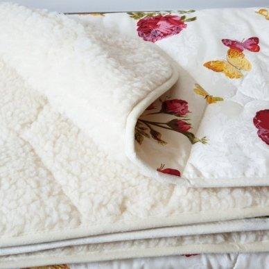 """Avių vilnos antklodė """"VERONA"""" (dvipusė), 170x200 cm 3"""