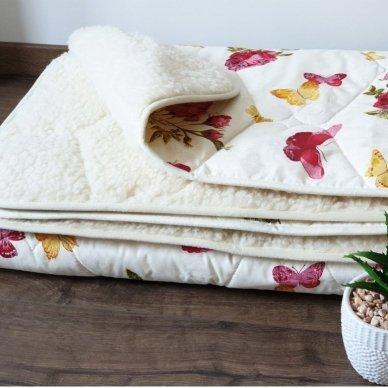 "Avių vilnos antklodė ""VERONA"" (dvipusė) (500 g/m²), 200x220 cm 4"