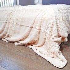 """Bambukinis pledas-lovos užtiesalas """"Latte Rytas"""", 220x220 cm"""