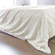 """Bambukinis pledas-lovos užtiesalas """"Kreminė Istorija"""", 220x220 cm"""