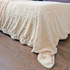 """Bambukinis pledas-lovos užtiesalas """"Vanilės Rytas"""", 220x220 cm"""