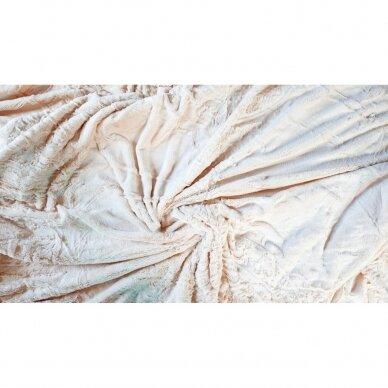 """Bambukinis pledas-lovos užtiesalas """"Latte Rytas"""", 220x220 cm 2"""