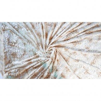 """Bambukinis pledas-lovos užtiesalas """"Kakavos Rytas"""", 220x220 cm 2"""