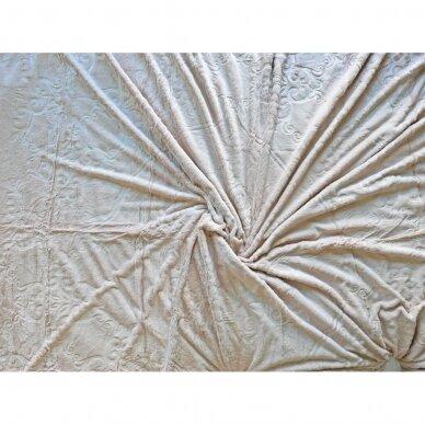"""Bambukinis pledas-lovos užtiesalas """"Rausva Gaiva"""", 220x220 cm 2"""