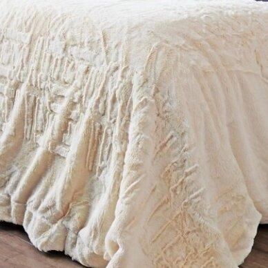 """Bambukinis pledas-lovos užtiesalas """"Vanilės Rytas"""", 220x220 cm 3"""
