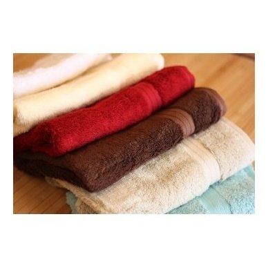 Bambukinis rankšluostis (persikinė) 3