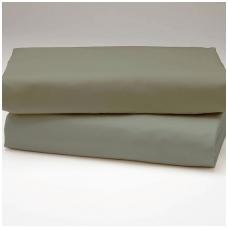 """Drobės paklodė su guma """"Šilta pilka"""""""