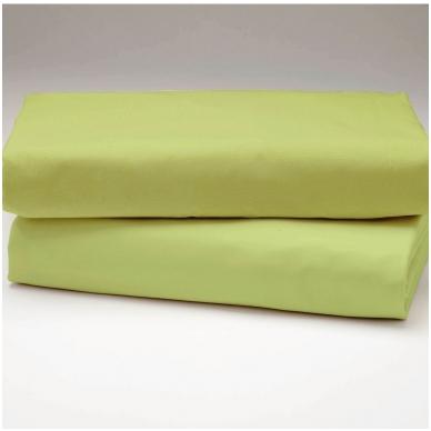 """Drobės paklodė """"Gaivi žalia"""""""
