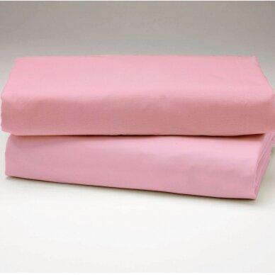 """Drobės paklodė """"Rožinė"""""""