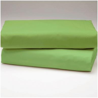 """Drobės paklodė """"Žalia"""""""