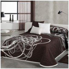"Dvipusis lovos užtiesalas ""BROWN-WHITE"", 235 x 270 cm"