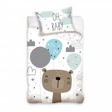 "Dvipusis patalynės komplektas ""Oh Baby Bear"", 100x135 cm"