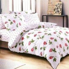"""Dvipusis patalynės komplektas """"Rožės Rytas"""", 3 dalių, 200x220 cm"""