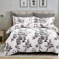 """Dvipusis patalynės komplektas """"Pilkosios rožės"""", 4 dalių, 200x220 cm"""