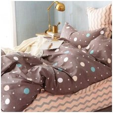 """Dvipusis patalynės komplektas """"Klasiškas miegas"""", 4 dalių, 200x220 cm"""