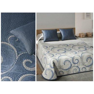 "Dvipusė lovatiesė ""Antika"", 250x270 cm (mėlyna) 2"
