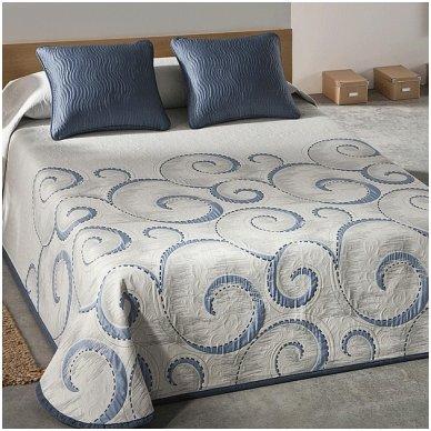 "Dvipusė lovatiesė ""Antika"", 250x270 cm (mėlyna)"