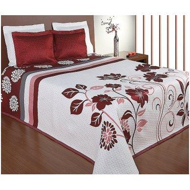 "Dvipusė lovatiesė ""Gėlių Sodas"", 250x260 cm (raudona) 2"