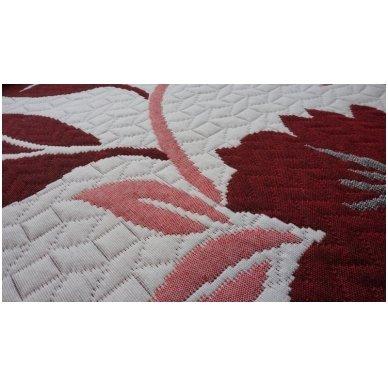 "Dvipusė lovatiesė ""Gėlių Sodas"", 250x260 cm (raudona) 3"