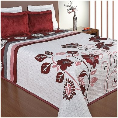 "Dvipusė lovatiesė ""Gėlių Sodas"", 250x260 cm (raudona)"